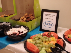 Roche sponsored breakfast (and Cedarlane and OSMT sponsored lunch!)